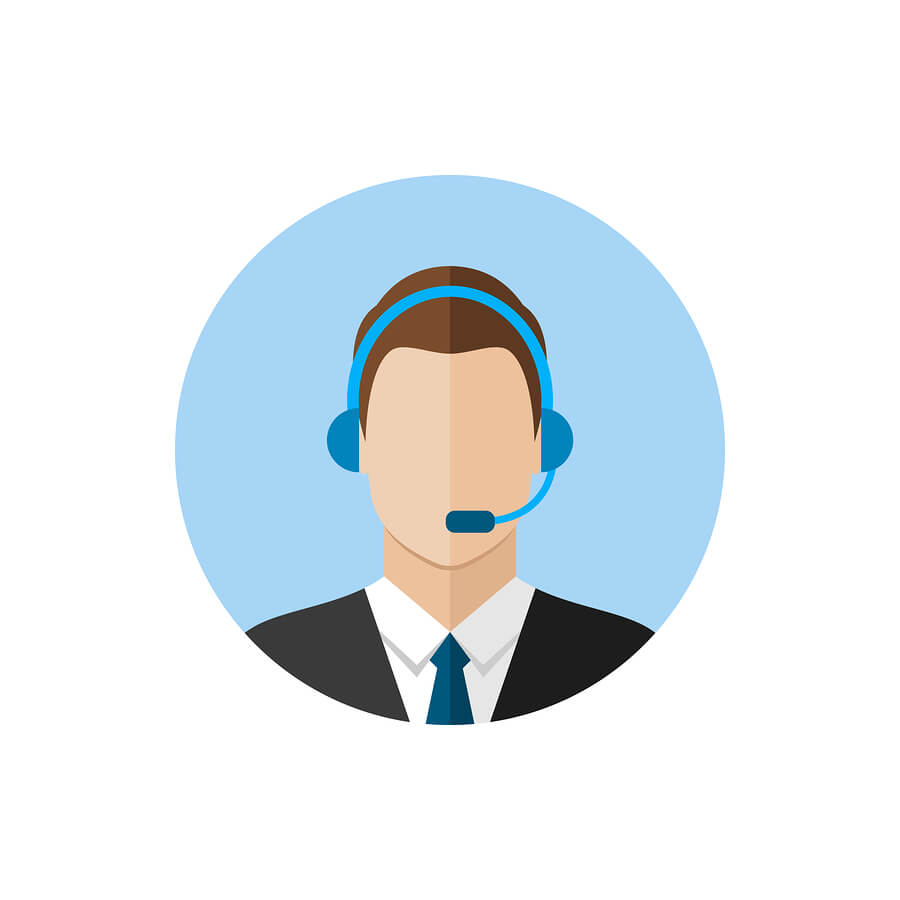 Illustrated image of man with headset