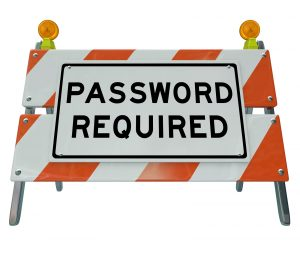 """road sign with the words """"password required"""" on it"""