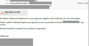 example of a fake solicitor email